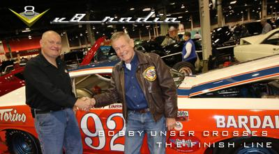Cover art for Bobby Unser Crosses The Finish Line, Qs New Ride, Power Tour Plans, Automotive Trivia, and More!