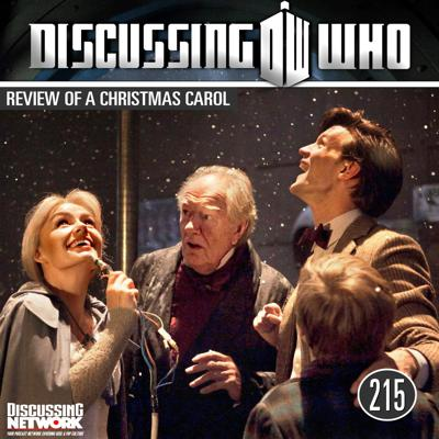 Cover art for Episode 215: Review of Doctor Who A Christmas Carol