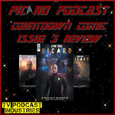 Cover art for Star Trek Picard Countdown Issue 3 Comic Review