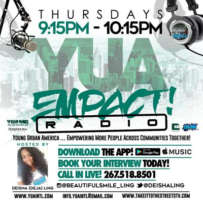 YUA  EMPACT Radio is a platform for artists, DJs, brands and businesses making an impact in their respective industries and communities!  We discuss new music, community involvement and highlight new and up and coming artists, brands and businesses looking to EMPACT!  Young Urban America … Empowering More People Across Communities Together!