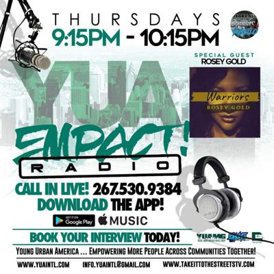 Cover art for YUA EMPACT RADIO – Shan FLAME & Rosey Gold Interviews + Nipsey Hussle Tribute by DJ Stitch