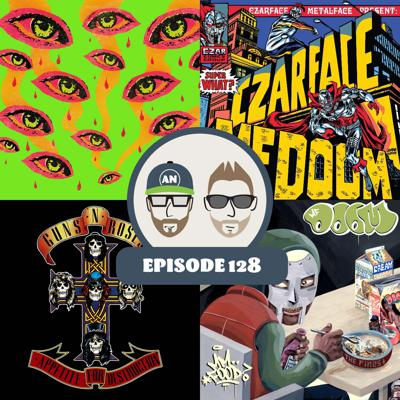 Cover art for Czarface, Red Fang, MF DOOM, and Guns N' Roses