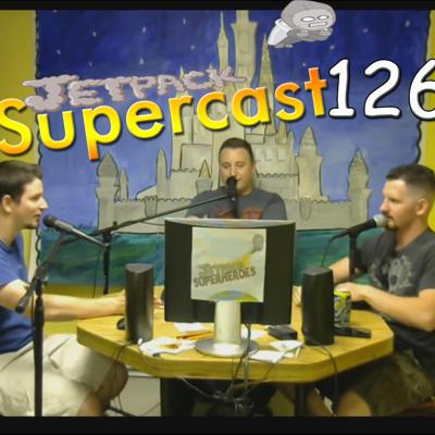 Cover art for #126 -  Man robs bank to avoid wife, navy sailor lost at his ship, Michael phelps vs shark, spider causes a crash, E3 2017, 4000 cow air lift. And What david would spend 2000 dollars on.