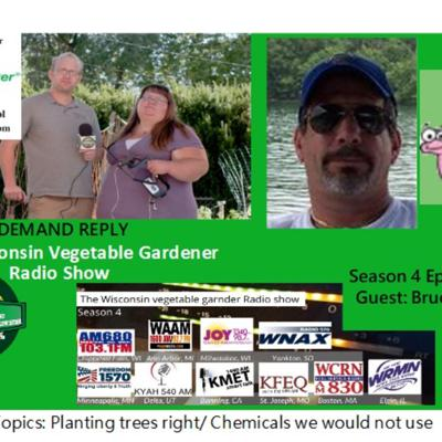 Cover art for S4E12 Plating trees correctly, Four chemical we would not use, Guest Bruce Galle  Worm guy- The Wisconsin Vegetable Gardener radio show