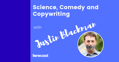 Cover art for Science, Comedy and Copywriting with Justin Blackman