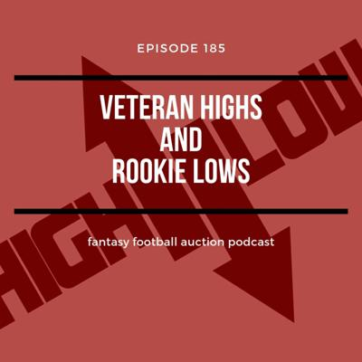 Cover art for Ep185 Veteran Highs and Rookie Lows - Fantasy Football Auction Podcast