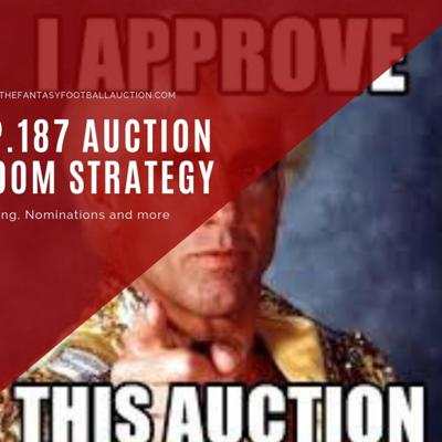 Cover art for Ep.187 Fantasy Football Auction Room Strategy