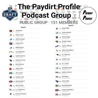 Cover art for Profiling the Paydirt Profile Podcast Community Mock Draft