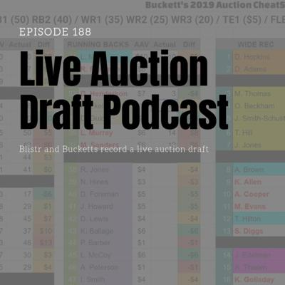 Cover art for Ep188 Live Fantasy Football Auction Draft