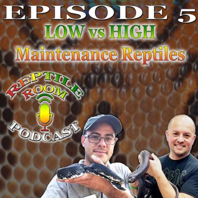 Cover art for Episode 5: Low vs. High Maintenance Reptiles