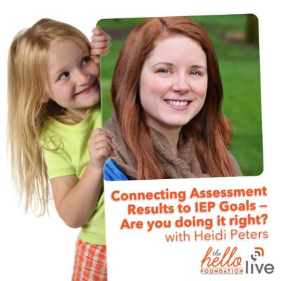 Cover art for Hello Live: Connecting Assessment Results to IEP Goals with Heidi Peters
