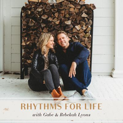 Are you managing stress or is your stress managing you? What practical steps can you take each day for sustained emotional, spiritual and relational health? In the Rhythms for Life podcast, authors, speakers, and founders of Q Ideas, Gabe Lyons and Rebekah Lyons, invite listeners to journey with them and expert guests into transparent conversations brimming with practical advice. From artists, nutritionists and psychologists to thought leaders, advocates and entrepreneurs, listeners will meet expert guides that will help them keep stress and anxiety at bay and pursue everyday moments of abundance by establishing four life-giving rhythms: rest, restore, connect, and create.