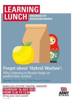 Cover art for Forget About Hybrid Warfare; Listening to Russia Helps us Predict Their Actions