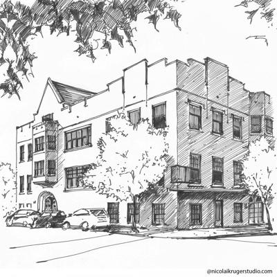 Cover art for Pine Street Theater building