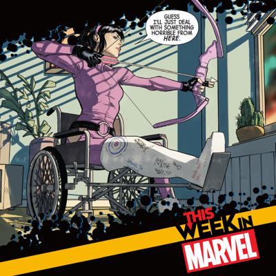Cover art for Marvel's 2021 Slate and Kate Bishop