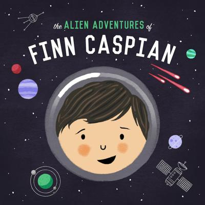 The Alien Adventures of Finn Caspian is a serialized science-fiction story for kids (start with Episode 1), told in 15-20 minute episodes for parents to put on when driving around town, or to marathon on road trips, or to bond over before bed. The story centers on Finn Caspian, an 8-year-old boy aboard The Famous Marlowe 280 Interplanetary Exploratory Space Station. He and his friends Abigail, Elias and Vale are Explorers Troop 301, taking off from the Marlowe to explore uncharted planets, help the occasional alien, and solve a mystery that threatens to destroy the Marlowe. When pressed, we describe it as a