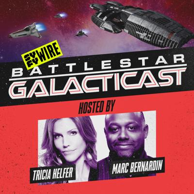 BSG star Tricia Helfer and TV writer/journalist Marc Bernardin do an episode-by-episode rewatch of Battlestar Galactica in its entirety, diving deep into the themes of the award-winning sci-fi classic and revealing behind the scenes details that only a true BSG insider like Tricia would know. In addition, the podcast will welcome members of BSG's cast and crew into the airlock to share their memories of making the groundbreaking series.