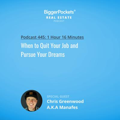 Cover art for 445: When to Quit Your Job and Pursue Your Dreams with Rapper Manafest