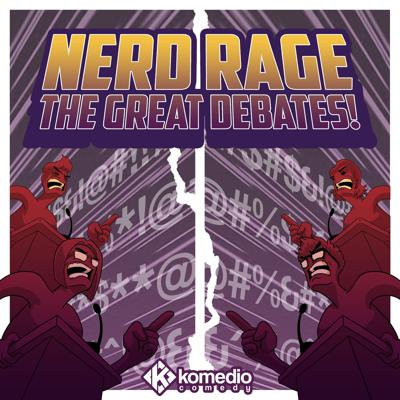 Every week on Nerd Rage: The Great Debates, your moderator, Marc Abrigo, challenges the funniest stand-up comics, podcasters, and even pro-wrestlers to take sides and square off to settle some of geekdom's hottest (and often times, weirdest) debates: how many muscle cars does Vin Diesel need to beat Captain America? Is Steven Universe a better frontman than Super Mario? And just what the hell will a lightsaber accomplish in the world of the Matrix?All will be settled -- are you ready to rage?
