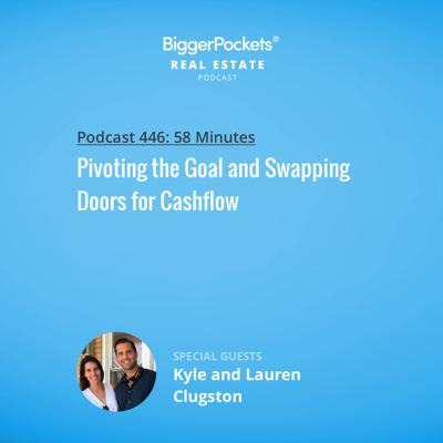 Cover art for 446: Pivoting the Goal and Swapping Doors for Cashflow with Kyle and Lauren Clugston