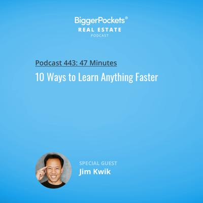 Cover art for 443: 10 Ways to Learn Anything Faster with Jim Kwik