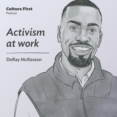 Cover art for Activism at work, with DeRay McKesson