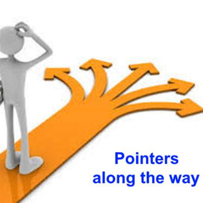 Pointers along the way