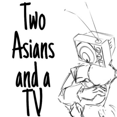 Two Asians and a TV