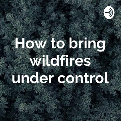 How to bring wildfires under control