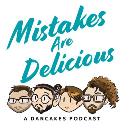 We are a group of people that run a Professional Pancake Art company called Dancakes. We aim to play party/social games together to bring us together but it might tear us apart. We will occasionally tell stories from our travels all over the world making goofy pancakes. Hopefully you listening is not a mistake, but if it is 'Mistakes Are Delicious'. Enjoy!