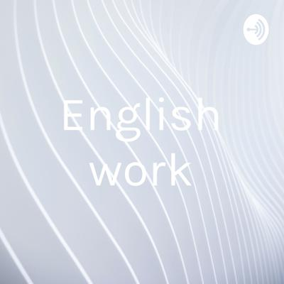 Cover art for English work