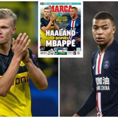 Cover art for Names in the news, Harry Kane, Mbappe, Haaland and Aubamayang plus Havertz teases a move away from Germany.