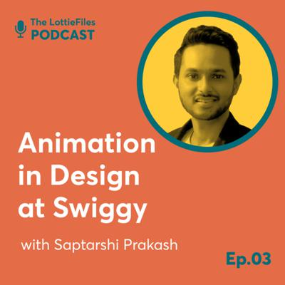 Cover art for #3 - Animation in Product Design at Swiggy with Saptarshi Prakash