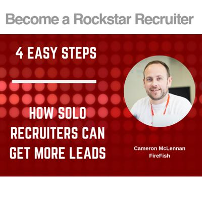 Cover art for x4 Easy Tips For Solo Recruiters To Get More Leads