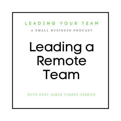 Cover art for How to Lead a Remote Team
