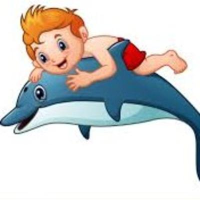 Cover art for Children's Story: Danny Rides a Dolphin to a Magic Island