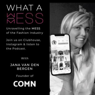 Cover art for Episode 2 with Founder and CEO of COMN App, Jana van den Bergen