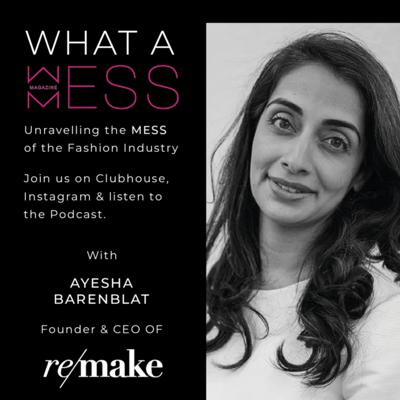 Cover art for Episode 3 with CEO and Founder of REMAKE, Ayesha Barenblat
