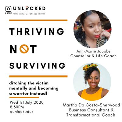 Cover art for Thriving not Surviving