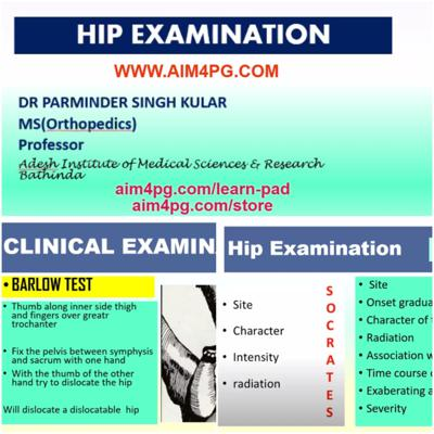 Cover art for EXAMINATION OF HIP