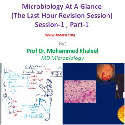 Cover art for Microbiology At A Glance (The Last Hour Revision) SESSION-1/3 (PART-1/2) by Prof Dr Mohammed Khaleel