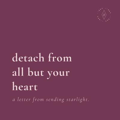 Cover art for detach from all but your heart