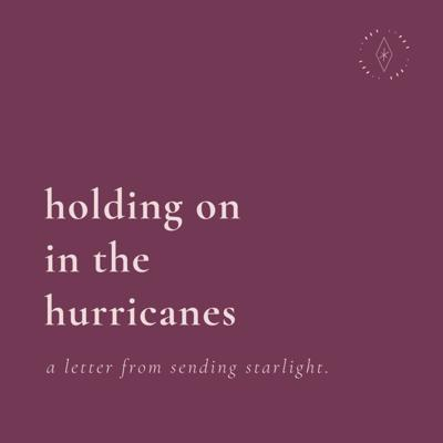 Cover art for holding on to the hurricanes