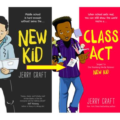 Cover art for Shell's Book Previews - New Kid and Class Act by Jerry Craft