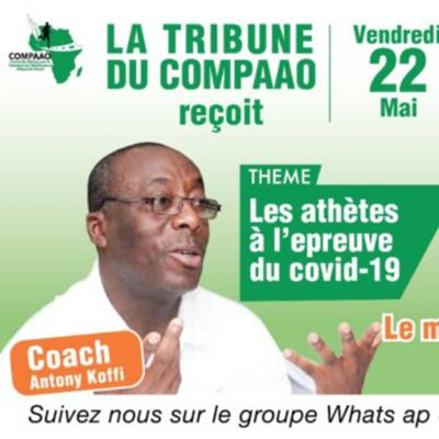 Cover art for Athletics 360 chat with Ivorian Coach Anthony Koffi during COMPAAO WhatsApp Meetup session.