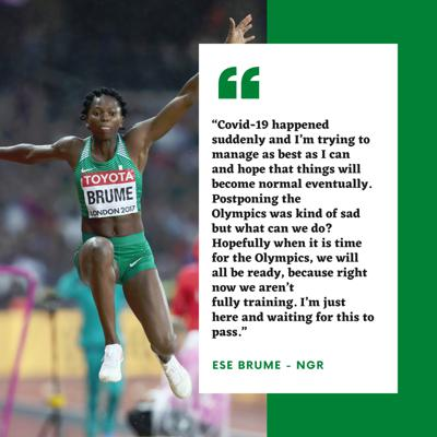 Cover art for Athletics 360 chat with 2014 Commonwealth Games champion Ese Brume (Nigeria)