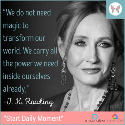 Cover art for ✨🎊 Today's Daily Moment ✨ Featuring JK Rowling 🎊✨