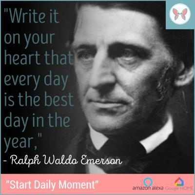 Cover art for ✨🎊 Today's Daily Moment ✨ Featuring Ralph Waldo Emerson 🎊✨