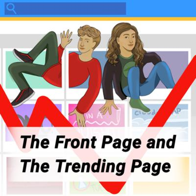 Cover art for The Front Page and The Trending Page