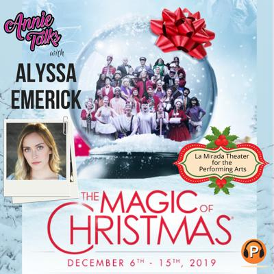 "Cover art for Episode 90 - Annie Talks with Alyssa Emerick | Young Americans presents ""The Magic of Christmas"" 2019"